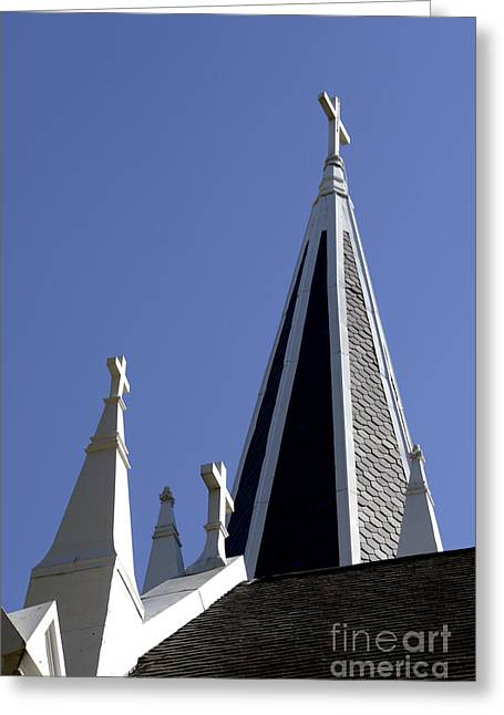 3 Crosses Greeting Card by Paul W Faust -  Impressions of Light