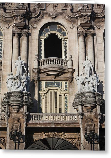 Cuba, Havana, Havana Vieja, Gran Teatro Greeting Card