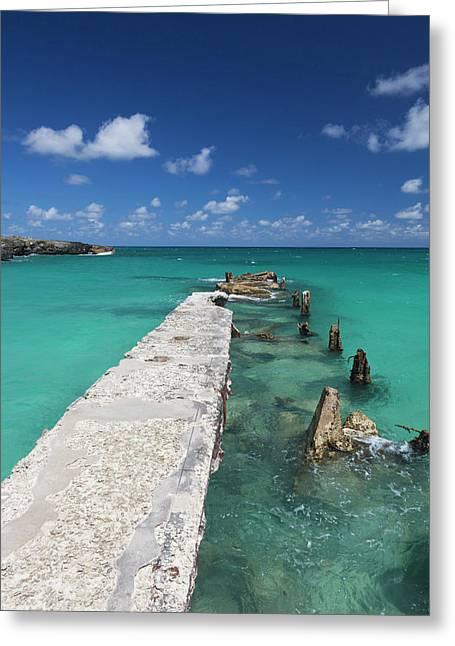 Cuba, Havana Province, Playas Del Este Greeting Card by Walter Bibikow