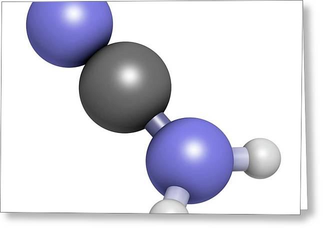 Cyanamide Molecule Greeting Card by Molekuul
