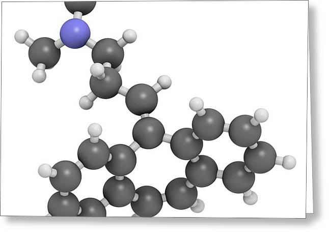 Cyclobenzaprine Molecule Greeting Card by Molekuul