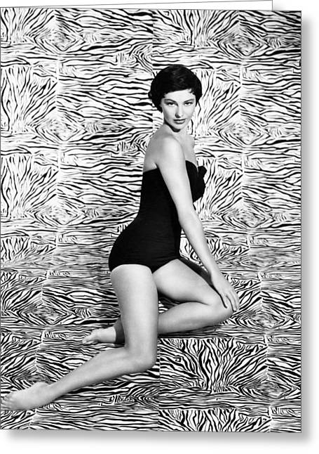 Cyd Charisse Greeting Card by Silver Screen