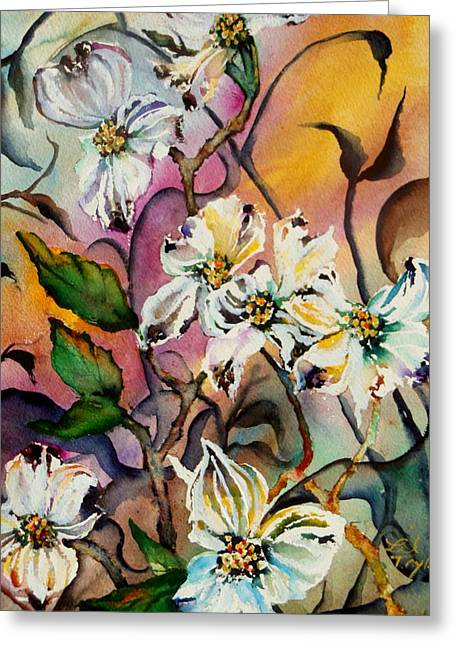 Dance Of The Dogwoods Greeting Card