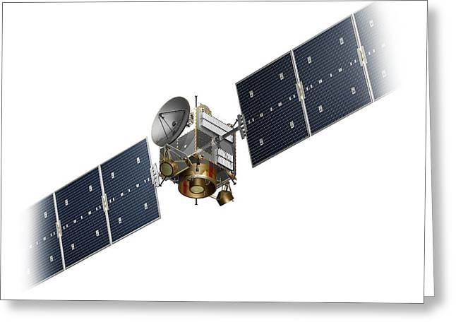 Dawn Spacecraft Greeting Card by Carlos Clarivan