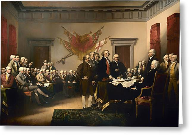 Declaration Of Independence Greeting Card by Mountain Dreams