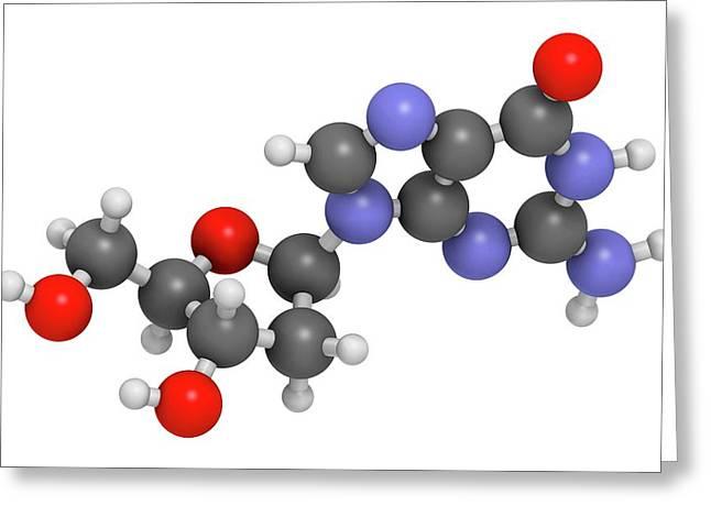 Deoxyguanosine Nucleoside Molecule Greeting Card