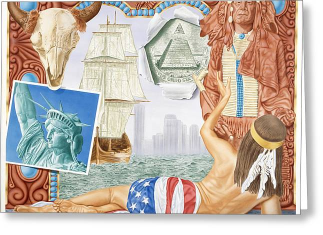 Destruction Of Native America Greeting Card