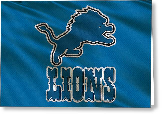 Detroit Lions Uniform Greeting Card
