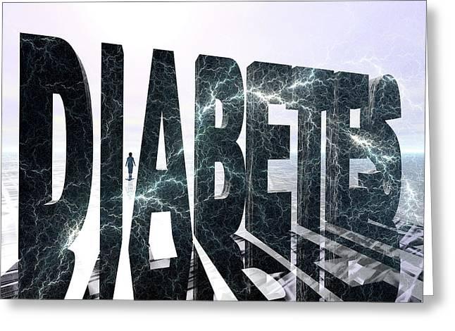Diabetes Greeting Card by Carol & Mike Werner