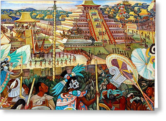 Diego Rivera Mural Mexico City Greeting Card