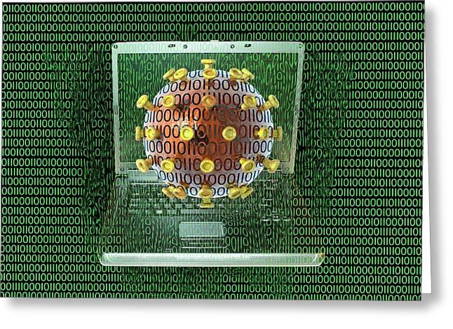Digital Meltdown Greeting Card by Carol & Mike Werner