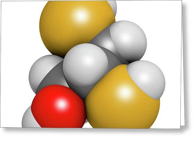 Dimercaprol Metal Poisoning Antidote Greeting Card by Molekuul