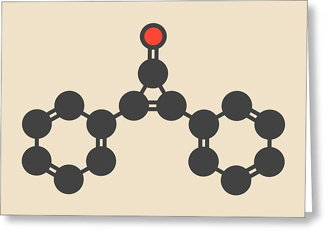 Diphencyprone Alopecia Drug Molecule Greeting Card