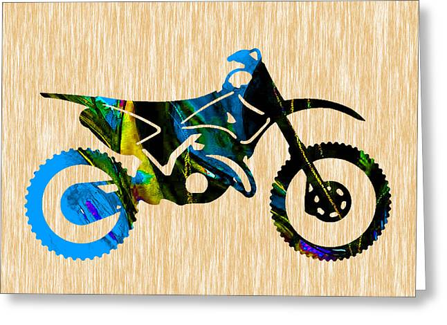 Dirt Bike Greeting Card by Marvin Blaine