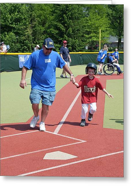 Disabled Baseball Game Greeting Card by Jim West