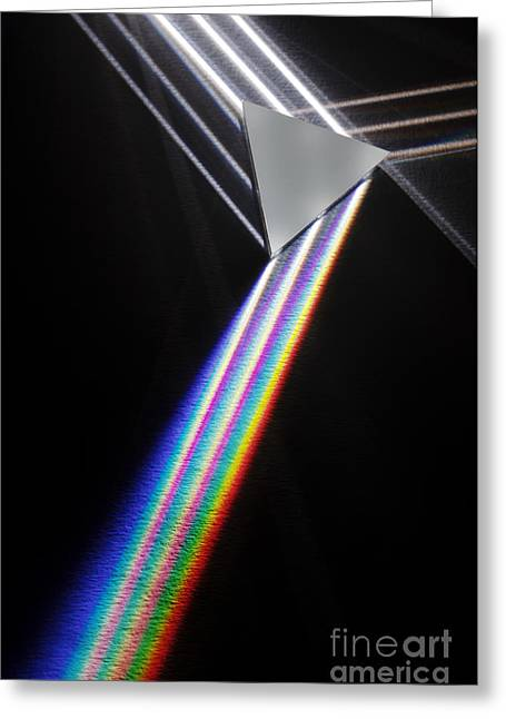 Dispersion Of White Light Greeting Card by GIPhotoStock