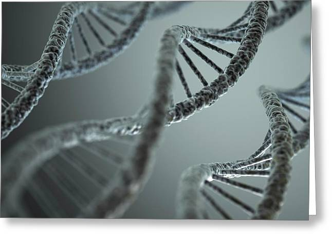 Dna Double Helix Greeting Card