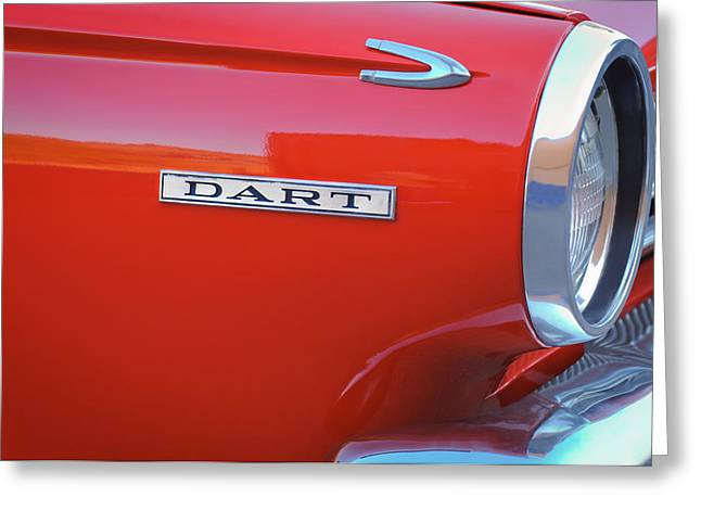 Dodge Dart Emblem Greeting Card by Jill Reger