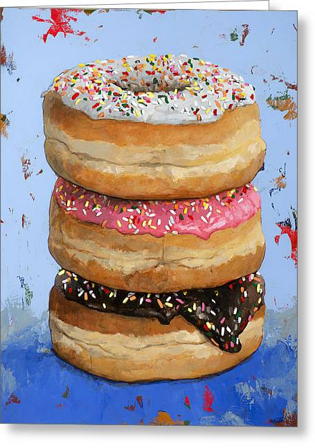 3 Donuts #2 Greeting Card by David Palmer