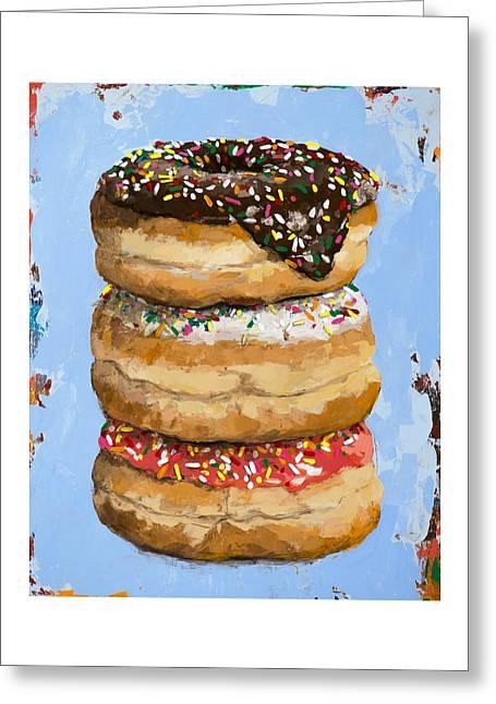 3 Donuts Greeting Card by David Palmer