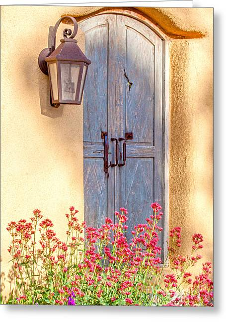 Doors Of Santa Fe Greeting Card