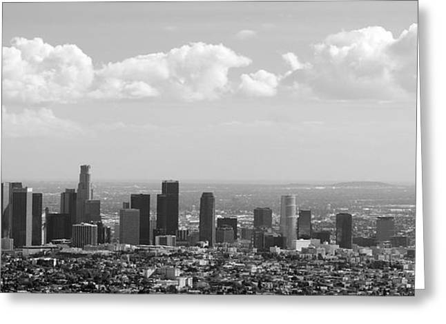 Downtown Of Los Angeles Greeting Card