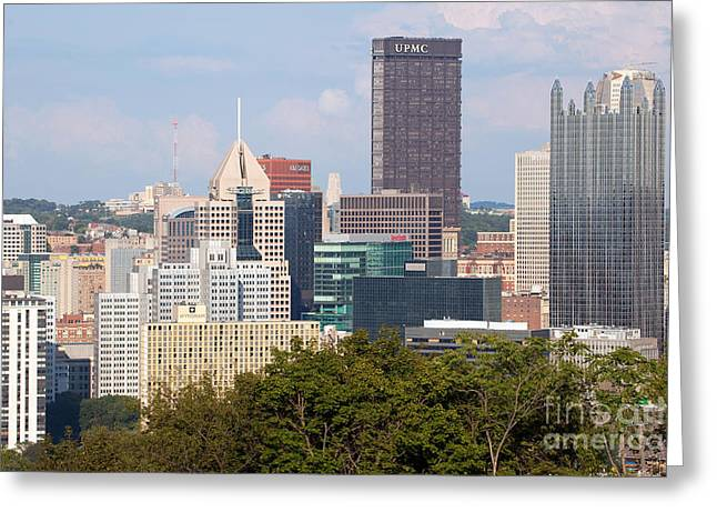 Downtown Skyline Of Pittsburgh Pennsylvania Greeting Card by Bill Cobb