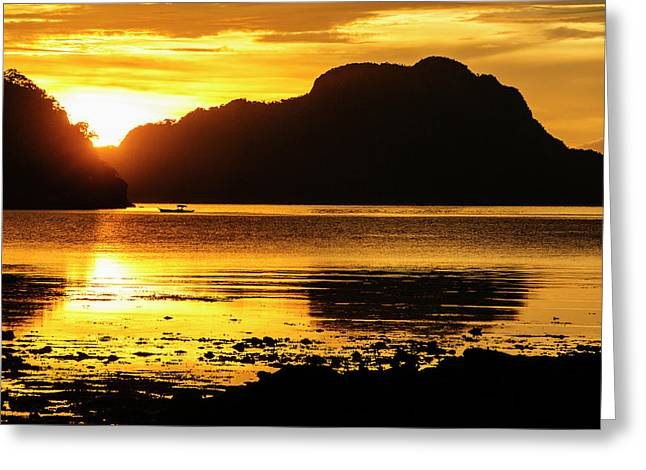 Dramatic Sunset Light Over The Bay Greeting Card by Michael Runkel
