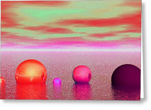 Dream Scapes Series One Greeting Card by Sir Josef - Social Critic - ART