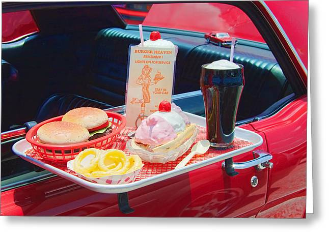Drive-in Greeting Card by Rudy Umans
