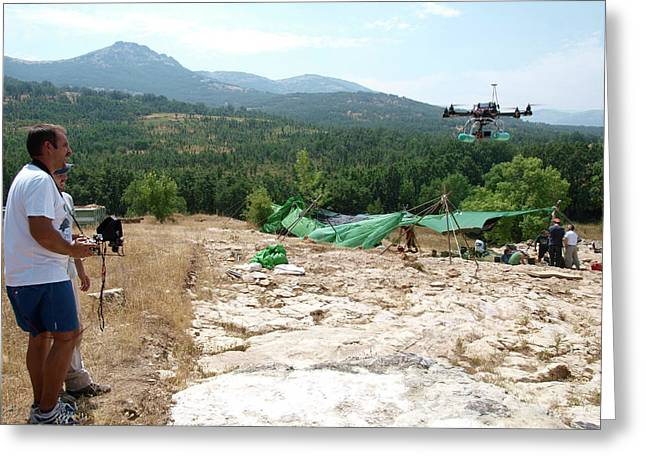 Drone Survey Of Neanderthal Fossil Site Greeting Card