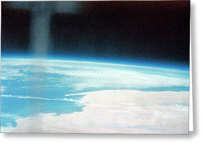 Earth From Space Greeting Card by Nasa