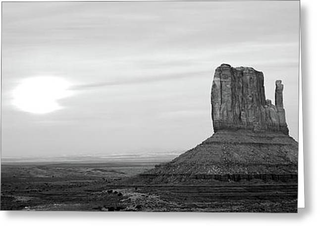 East Mitten And West Mitten Buttes Greeting Card by Panoramic Images