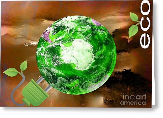 eco Greeting Card by Marvin Blaine