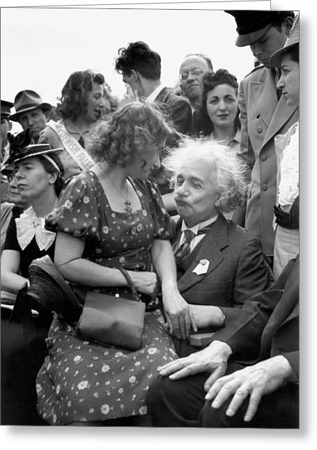 Einstein At World's Fair Greeting Card