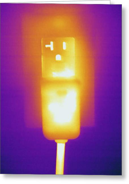 Electrical Outlet, Thermogram Greeting Card