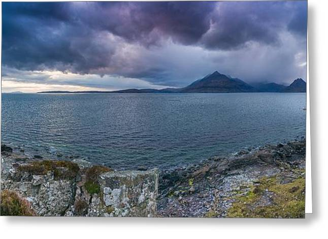 Elgol Sunset Greeting Card