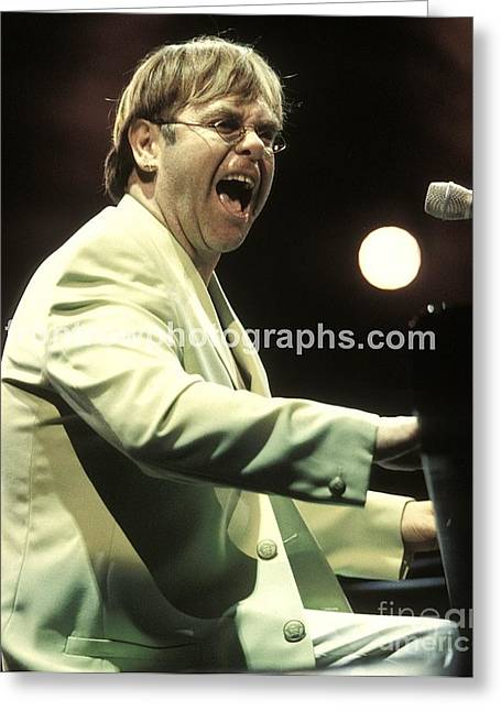 Elton John Greeting Card by Concert Photos