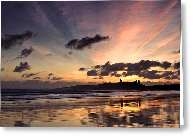 Embleton Bay Sunrise Greeting Card by David Pringle