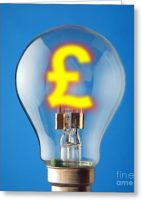Energy Costs, Conceptual Image Greeting Card