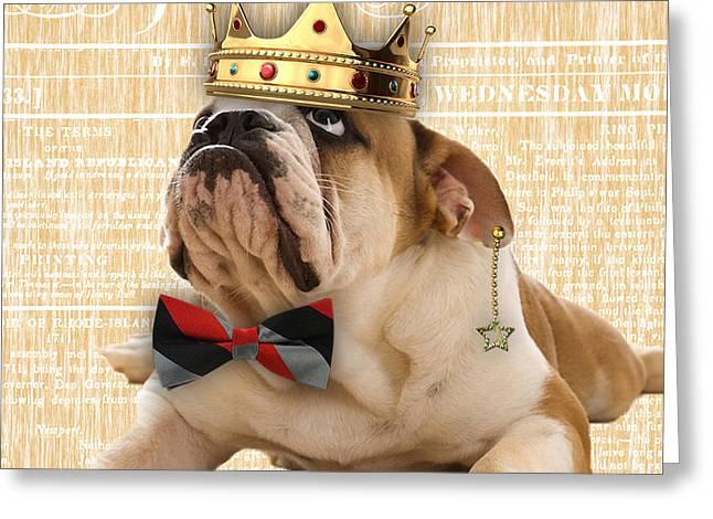 English Bulldog Bowtie Collection Greeting Card