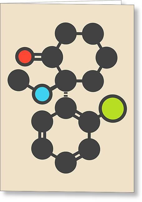 Esketamine Drug Molecule Greeting Card by Molekuul