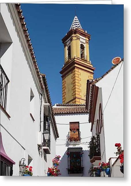 Estepona, Spain. Church Greeting Card by Ken Welsh