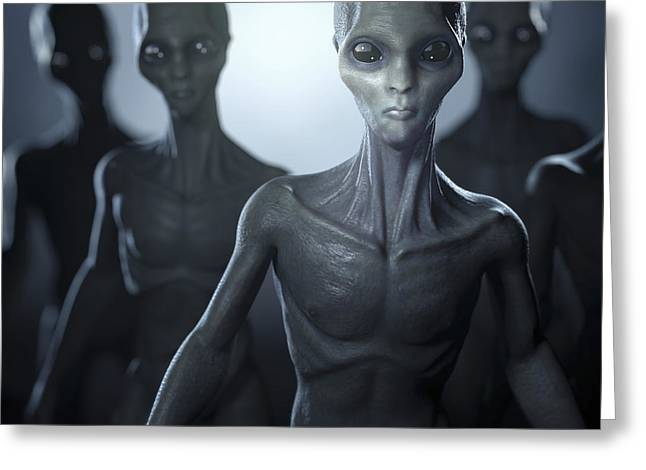 Extraterrestrial Life Greeting Card by Science Picture Co