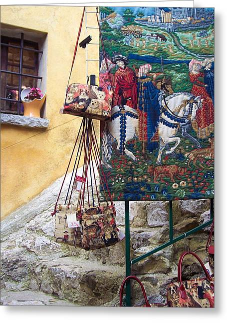 Eze Tapestry Greeting Card by David Nichols