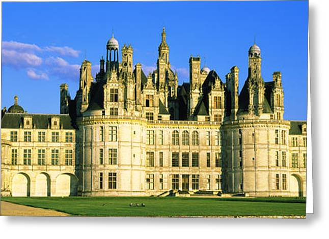 Facade Of A Castle, Chateau De Greeting Card by Panoramic Images