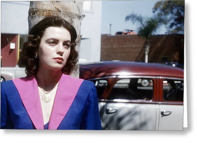 Faith Domergue Greeting Card by Silver Screen