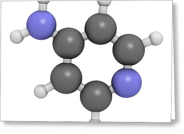 Fampridine Multiple Sclerosis Drug Greeting Card by Molekuul