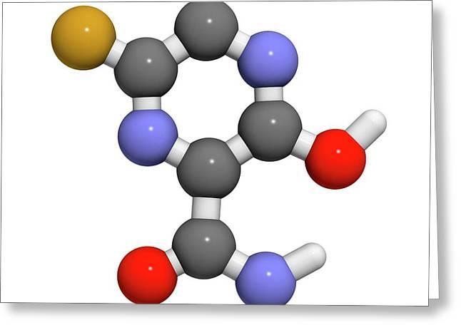 Faviparivir Antiviral Drug Molecule Greeting Card by Molekuul
