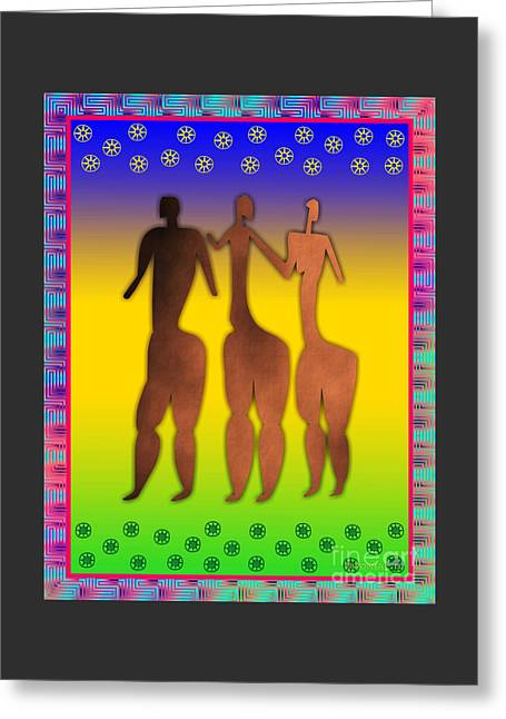 3 Sisters Greeting Card by Walter Neal